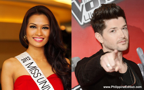 Danny O'Donoghue with hot, beautiful, sexy, Girlfriend Janine Tugonon