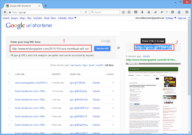 Goo.gl: Penyingkat URL Google