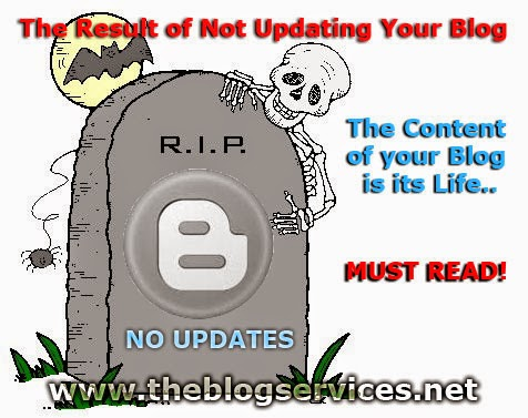 The Result of Not Updating Your Blog; Content of your blog is its life