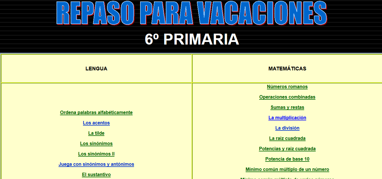 http://colegiocampotejar.com/colegio/archivosweb/tercercicloprimaria/repasocursos/repasosexto.htm