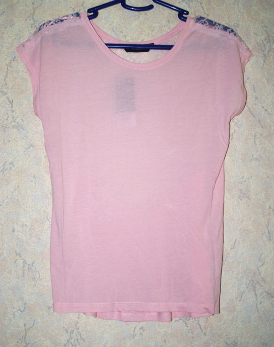 Pink lace back tee, lace back, pink tee, dorothy perkins