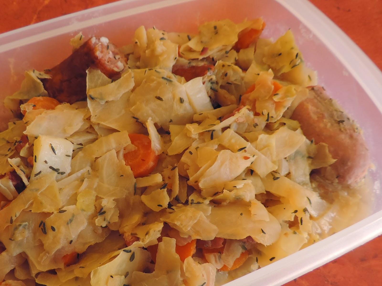 les petits plats de chou blanc saucisses cookeo