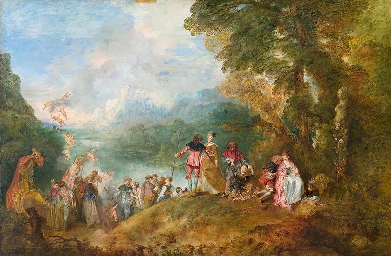 Le pélerinage à l'île de Cythère - Watteau