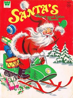 collecting vintage christmas paint and color books