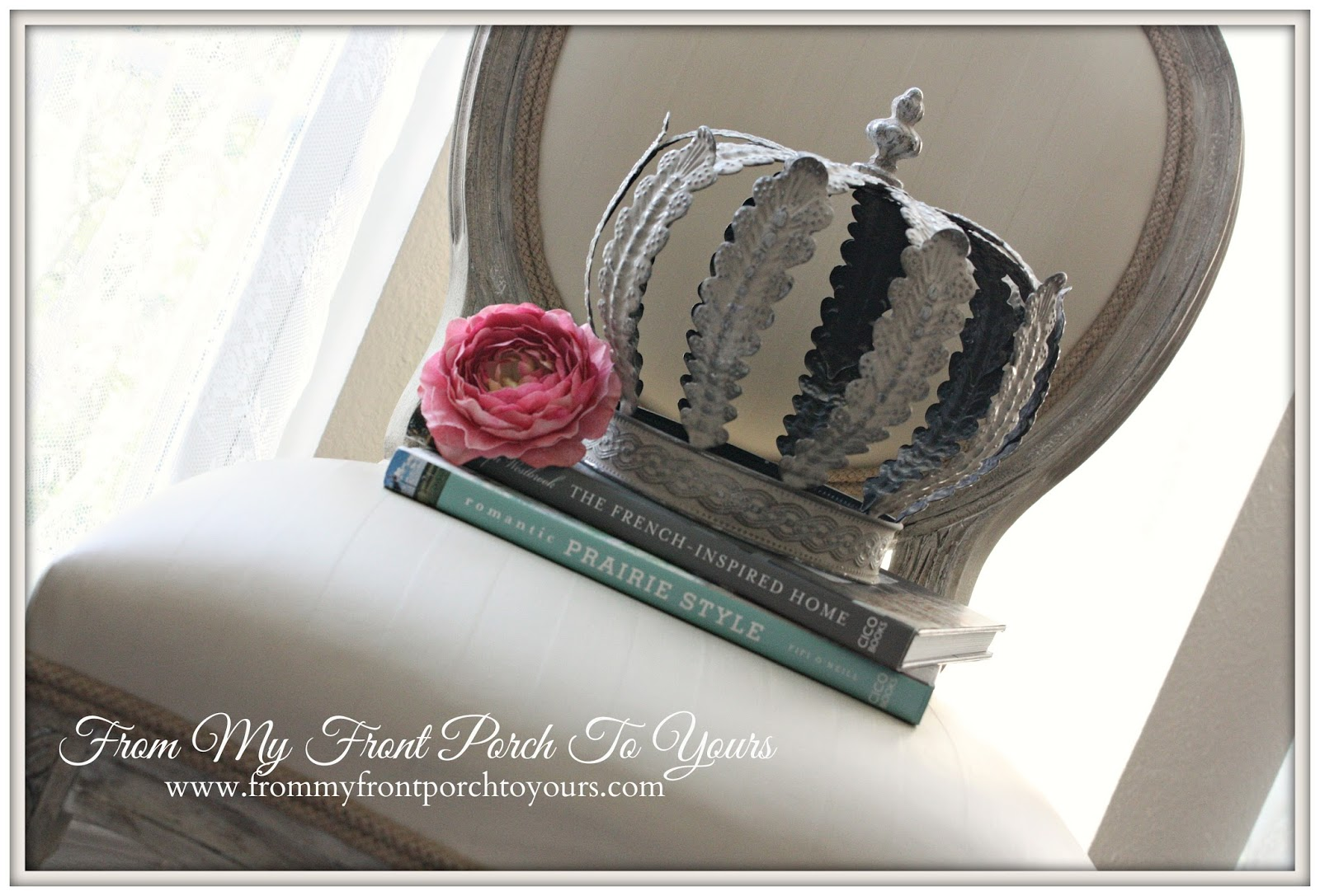 From My Front Porch To Yours- Painting Fabric With Chalk Paint