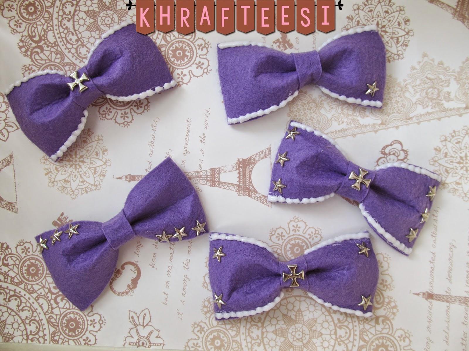 Khrafteesi Icing Bows Purple