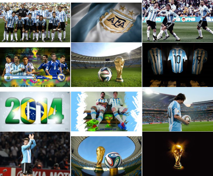 Download Argentina Team Football Windows 8.1 Theme