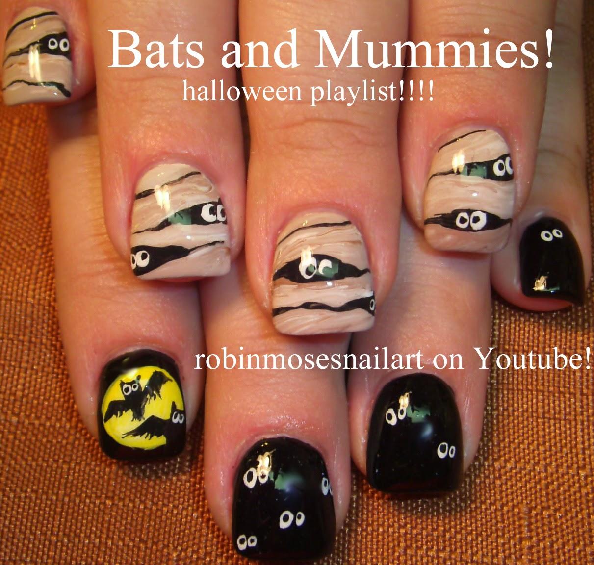 """Cute Easy Fall Nail Designs: Robin Moses Nail Art: """"halloween Nails"""" """"halloween Nail"""