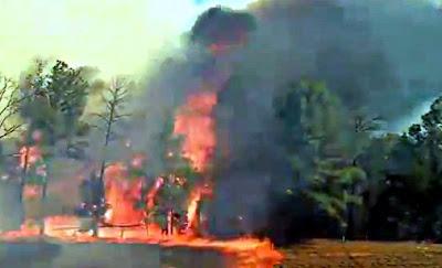 テキサスの山火事