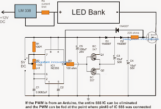 Arduino PWM LED intensity controller circuit