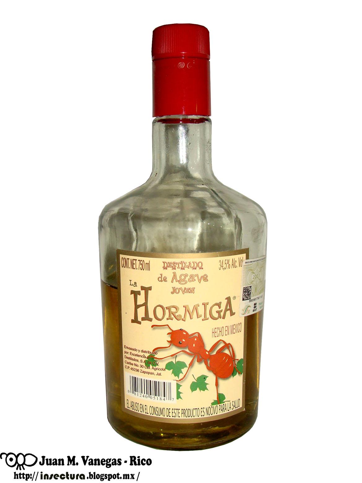 "Tequila ""La hormiga"""