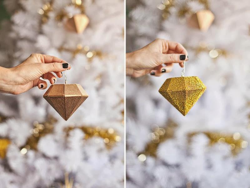 złota ozdoba choinkowa hand made - tutorial