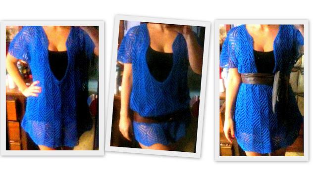 maglia cotone ai ferri - lace top