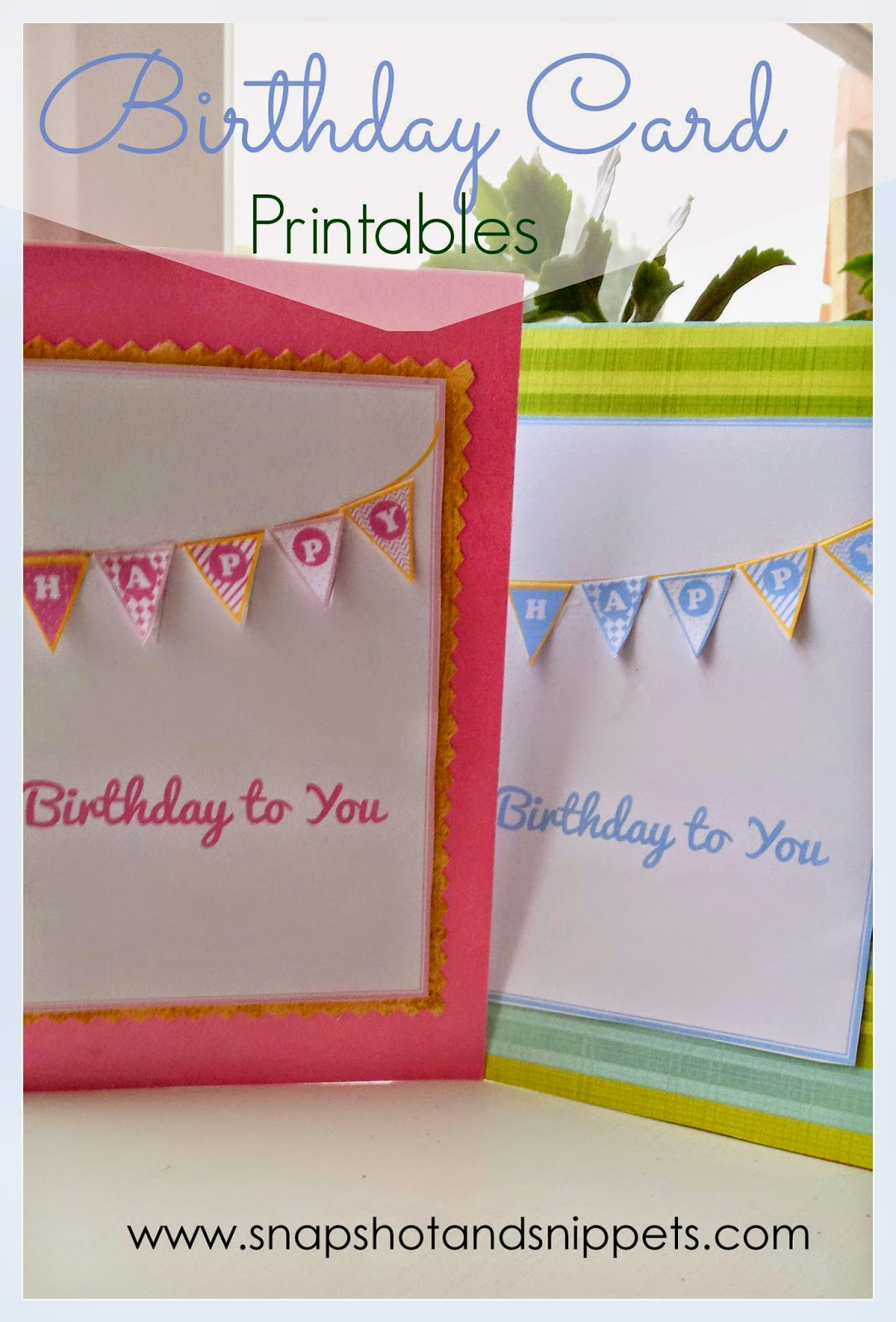 Birthday card - pink