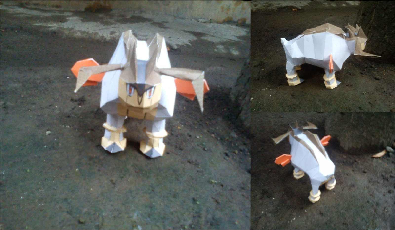 Pokemon Terrakion Papercraft