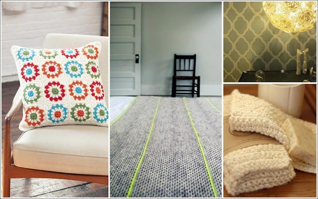 crochet pillow, doily lamp, crochet blanket, crochet dishcloths