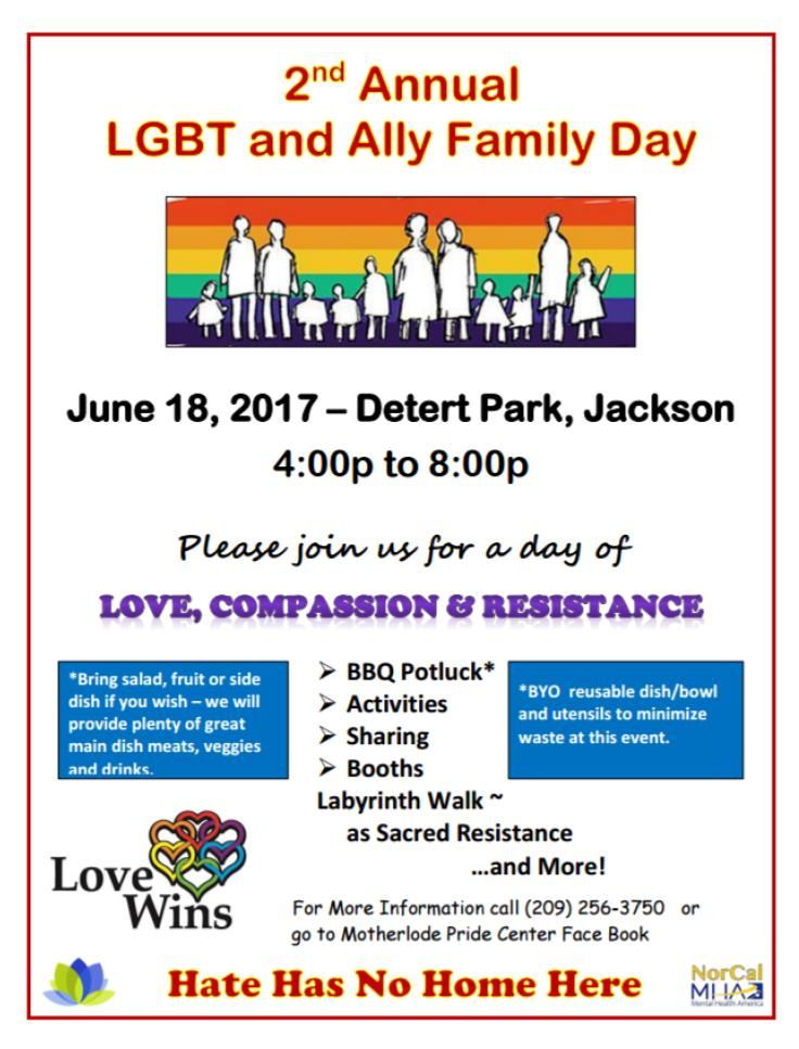 2nd Annual LGBT & Ally Family Day - June 18