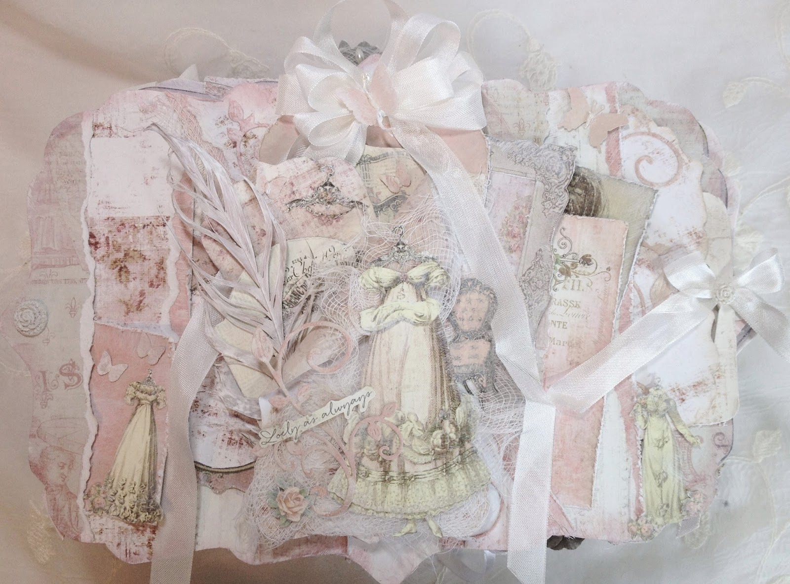Shabby chic crafts to make - I Torn The Paper Into Strips To Make A Several Pockets