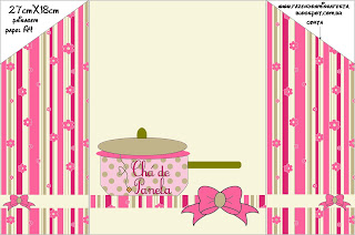 Chá De Panela Kit Completo Com Molduras Para Convites Rótulos