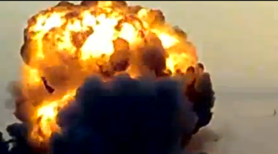 Video: Massive explosion as Israel airstrikes Gaza