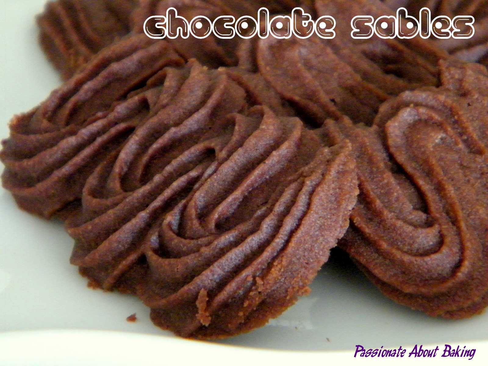 Vienesse Chocolate Sables | Passionate About Baking
