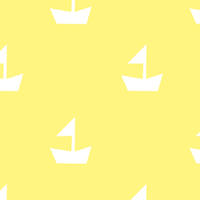 free yellow boat paper