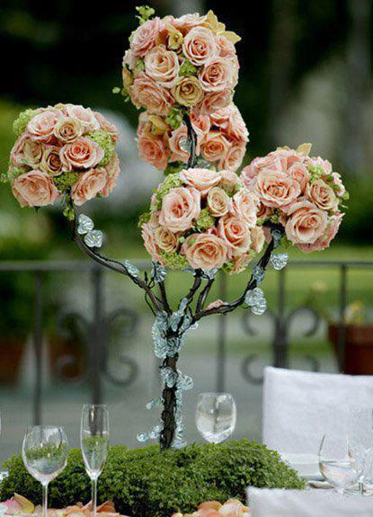 topiaria de rosas