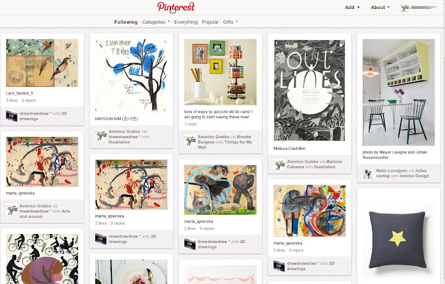 A preview da pagina de abertura de um account do pinterest.