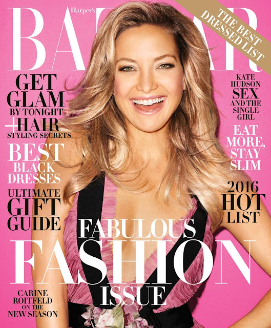 Actress, @ Kate Hudson - Harper's Bazaar Magazine Dec/Jan 2015/2016