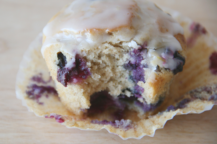 on the brightside...: blueberry doughnut muffins