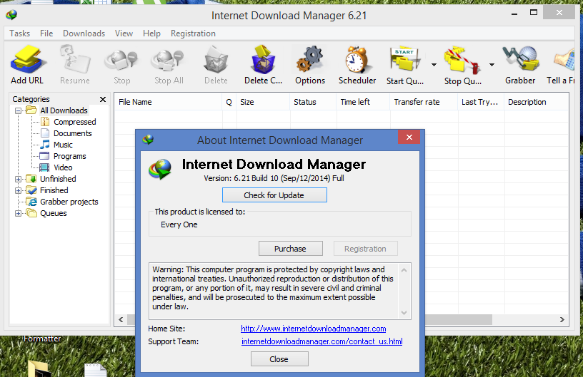 Download Internet Download Manager (IDM) 6.21 Build 10 www.find4something.blogspot.com