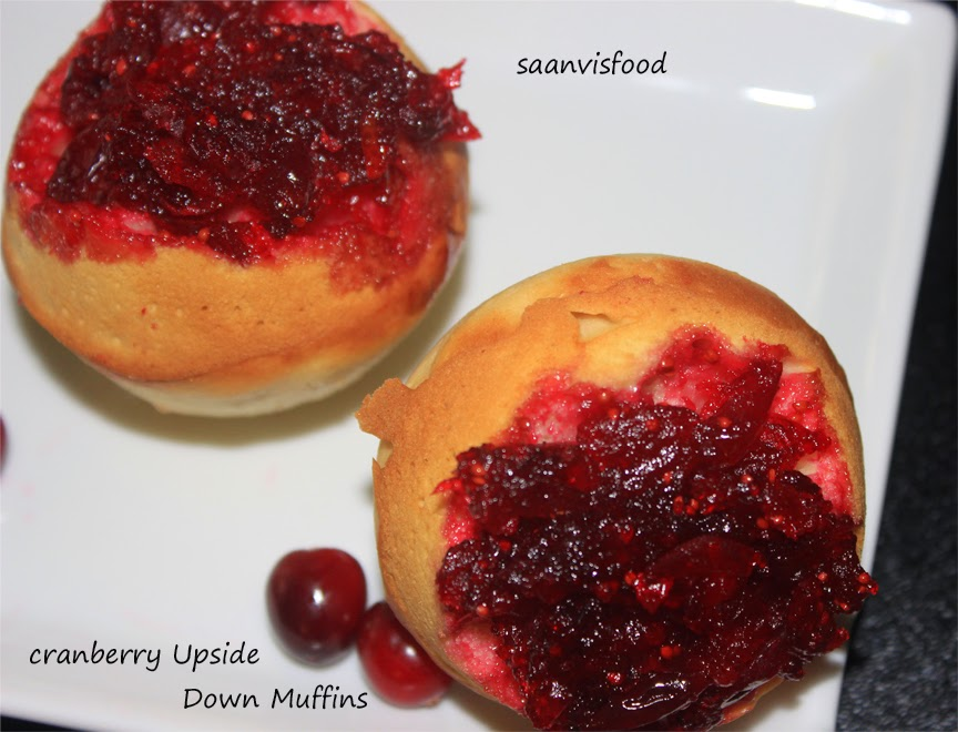 Cranberry Upside Down Muffins