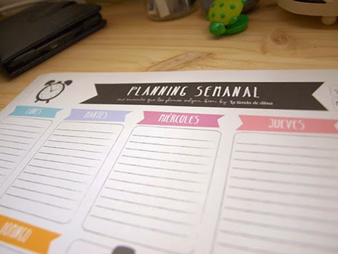 Organizador planning semanal gratis freebie La tienda de dibus