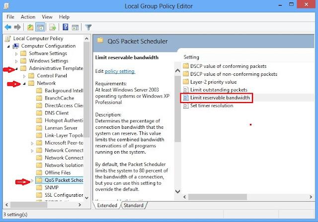 Memaksimalkan Bandwidth Internet di Windows 8