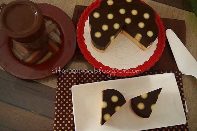 Resipi : Puding Kentang Lapis Coklat Polkadot
