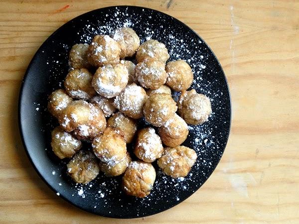 receta buñuelitos de hojaldre rellenos de chocolate