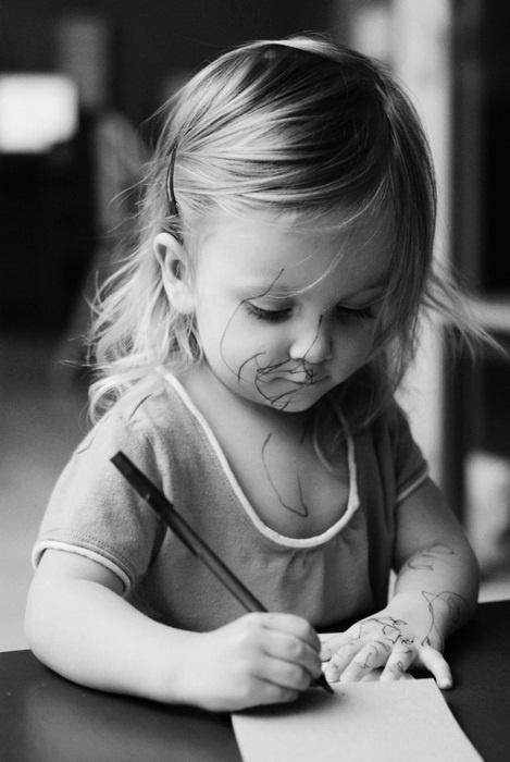 Trước khi cô ấy trở thành thiên tài hội họa