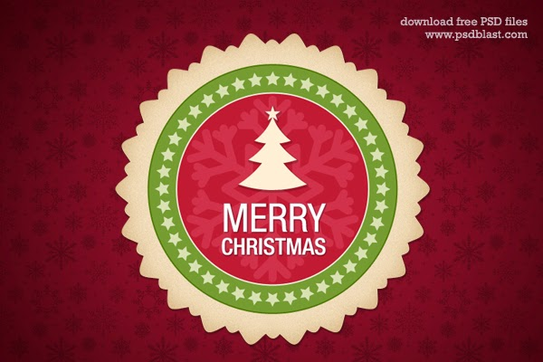 Christmas Web Badge PSD