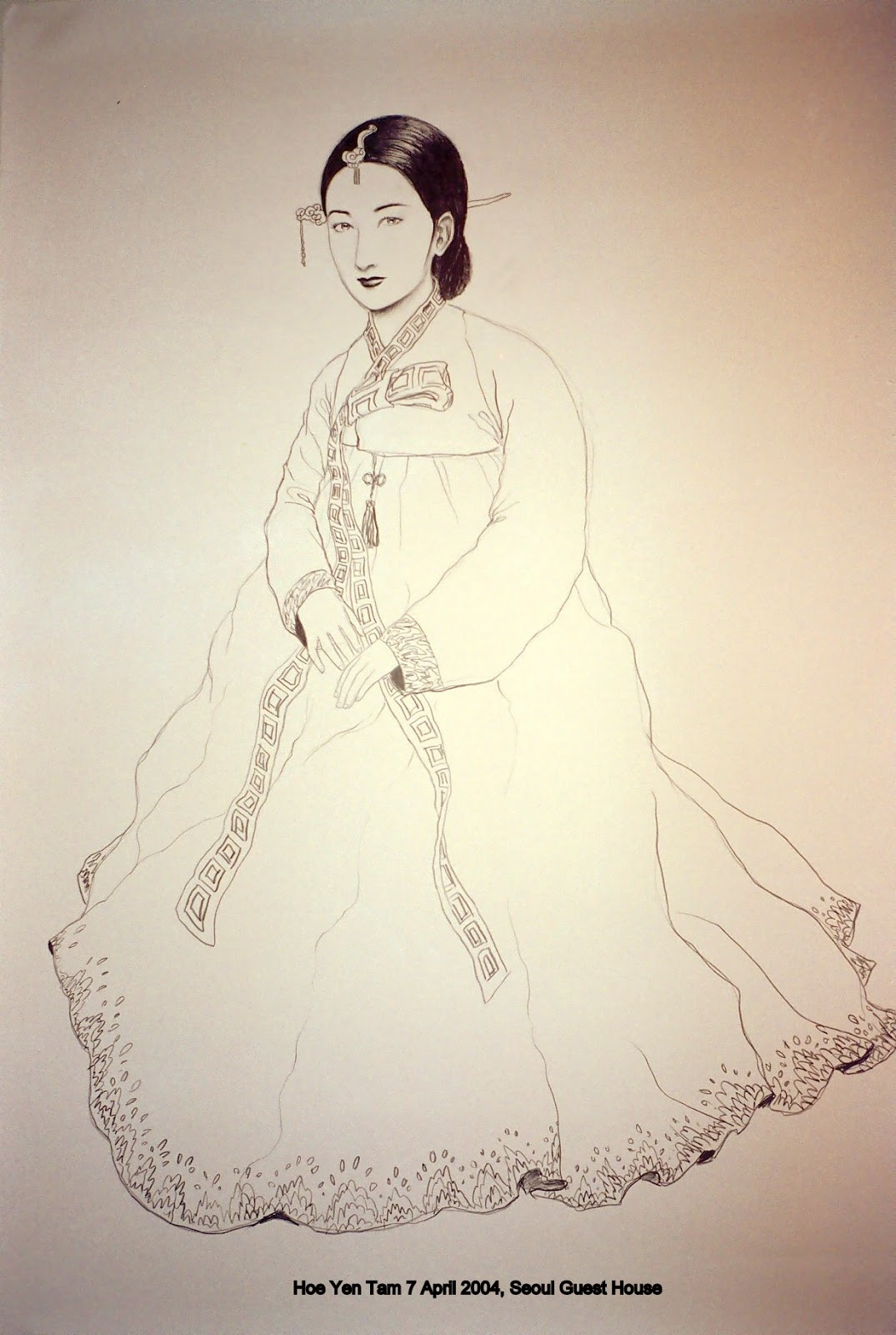 Korean women pencil drawings 2004