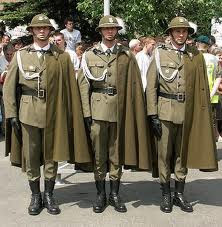 Militlary Uniforms  - Polish Soldiers - Ceremonial Parade of Podhale Rifles Regiment