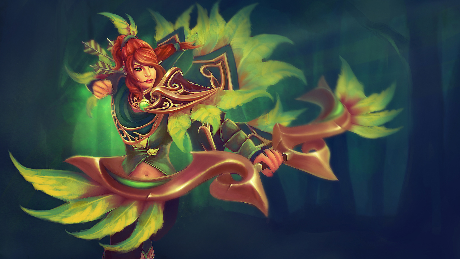 dota 2 windranger 2l wallpaper hd