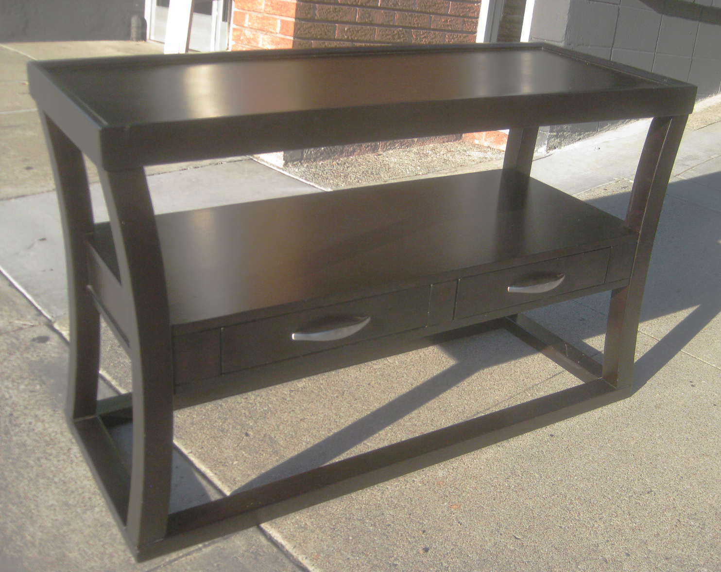 Uhuru furniture collectibles sold espresso console - Table console extensible solde ...