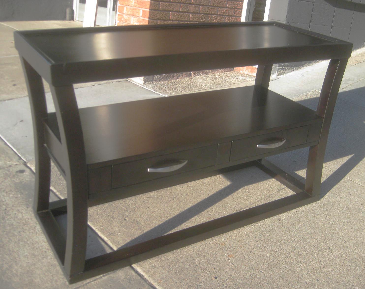 Table console extensible solde maison design for Table console extensible solde