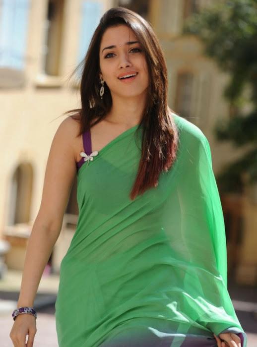 tamanna in green saree photo gallery
