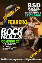ROCK & ROLL EL DOMINGO 25 INTENSIVO  EN FEBRERO EN BSD BAILAS MÁLAGA CENTRO.