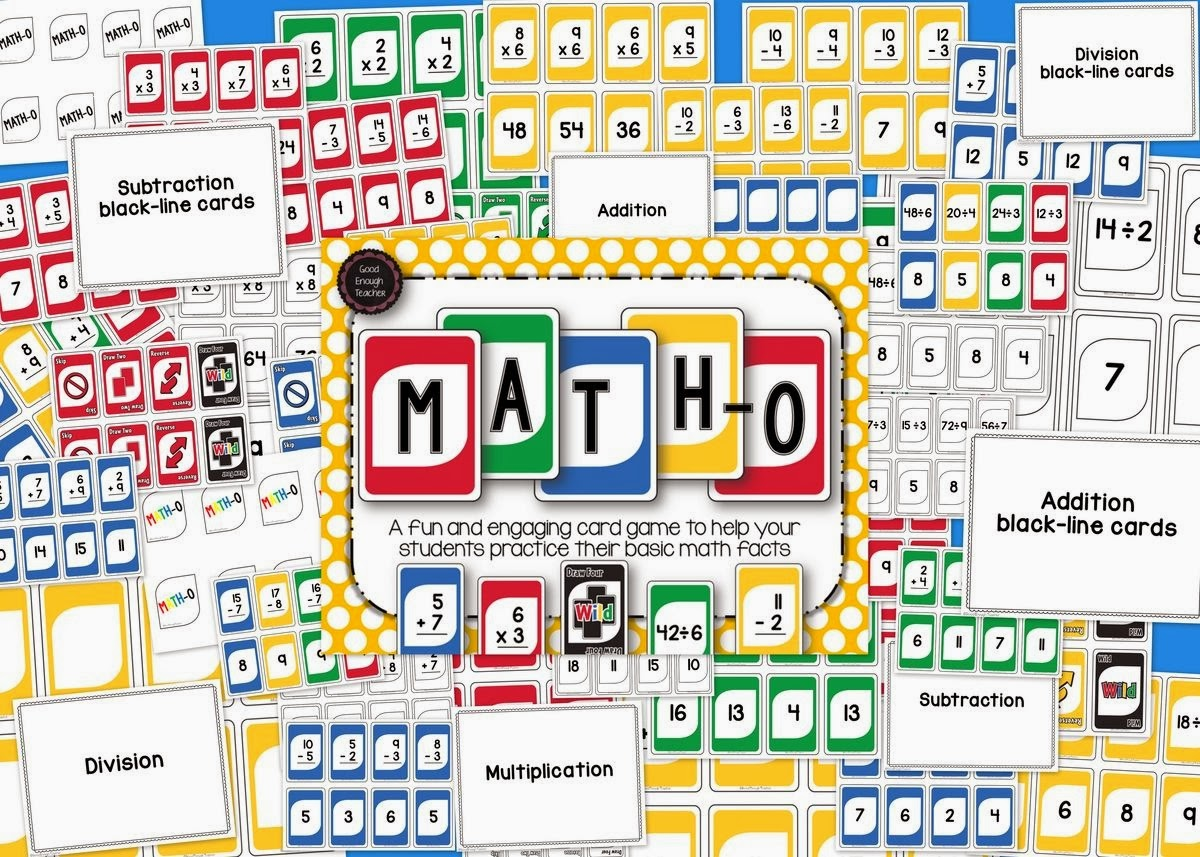 http://www.teacherspayteachers.com/Product/Math-o-addition-subtraction-multiplication-division-card-game-1127659