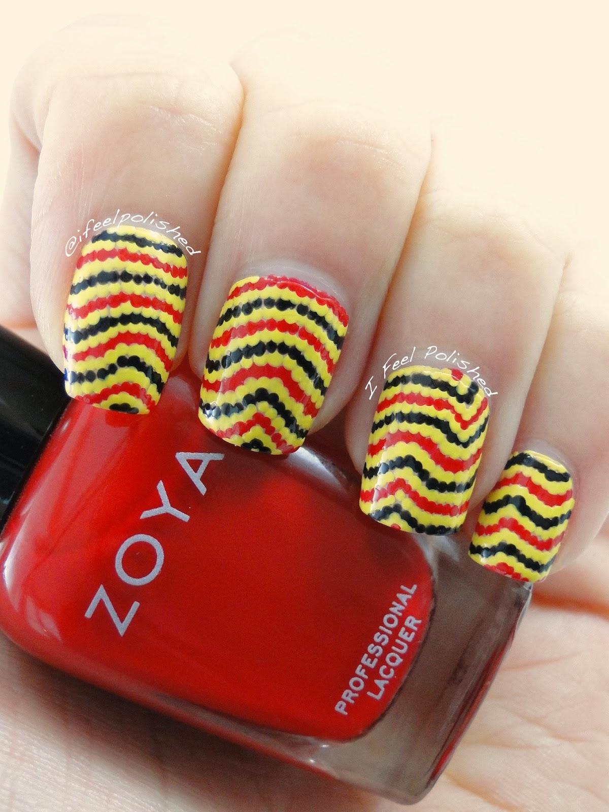 Coral Snake Nails