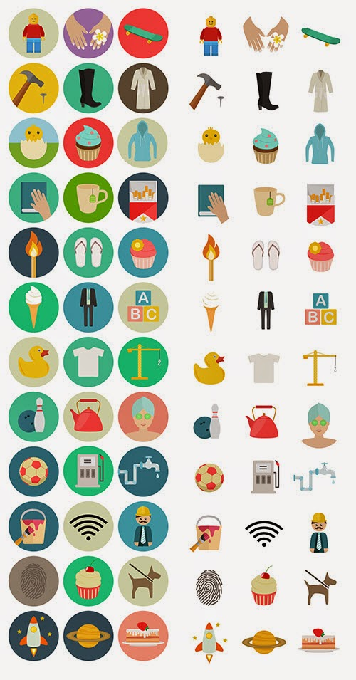 Freebie: Flat Icon Set (60 Icons, PNG, SVG, EPS, PSD, AI)