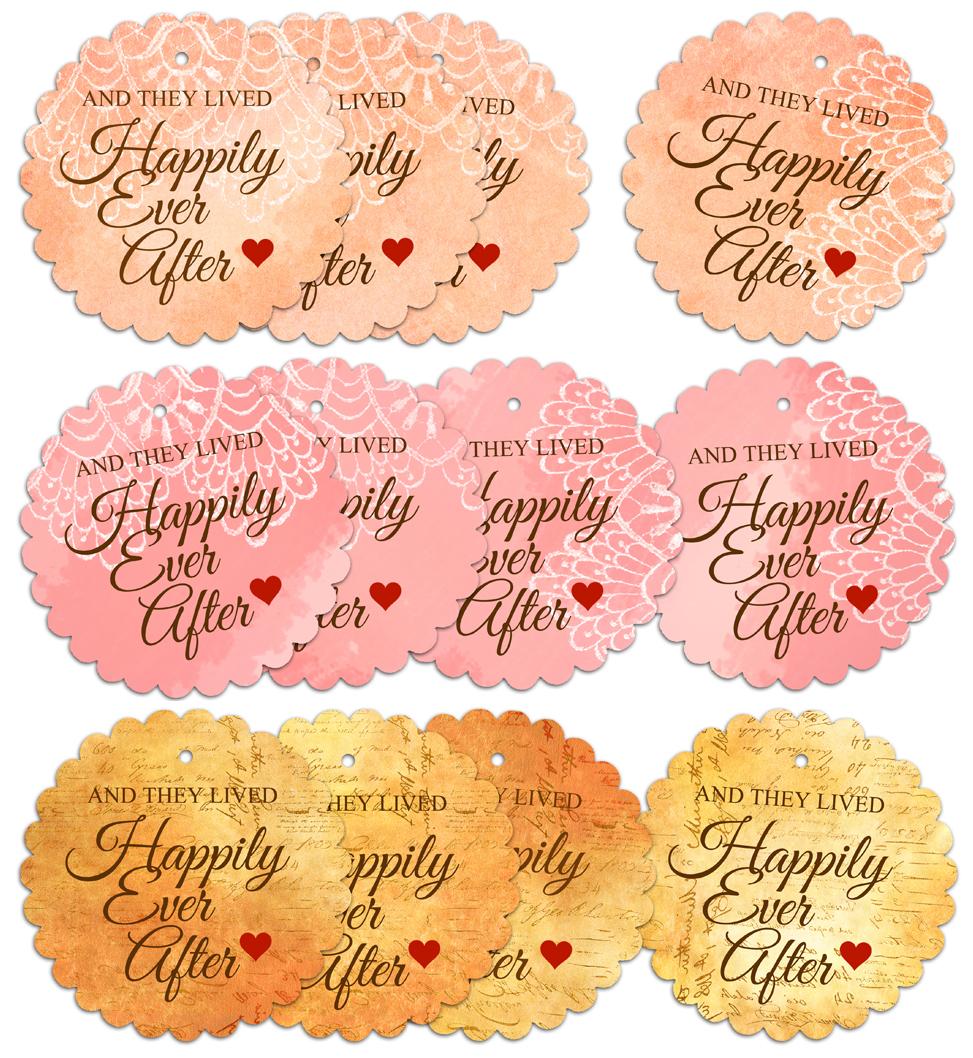DIY Happily Ever After Wedding Favour Tags : Behind Mytutorlist.com