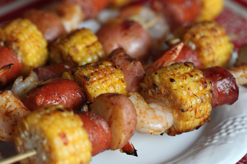 Tortillas and Honey: Shrimp Boil Kabobs (Kabob Week Day 5)